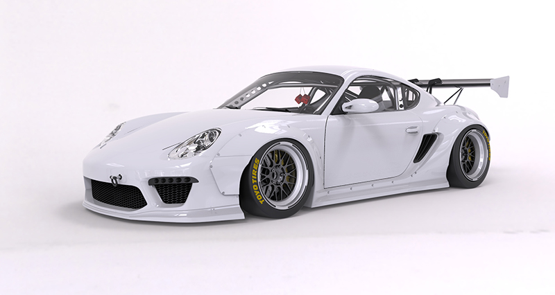 987cayman V2 Wide body kit