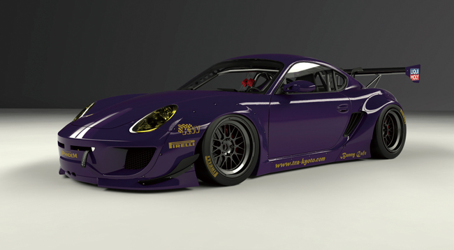 987cayman Wide body kit