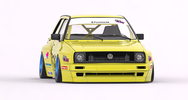 VOLKSWAGEN GOLF 2 WIDE BODY KIT