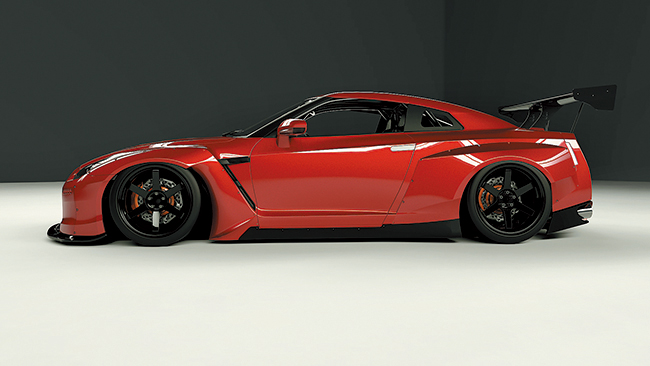 pandem nissan r35 gt r wide body kit gt wing 橋本