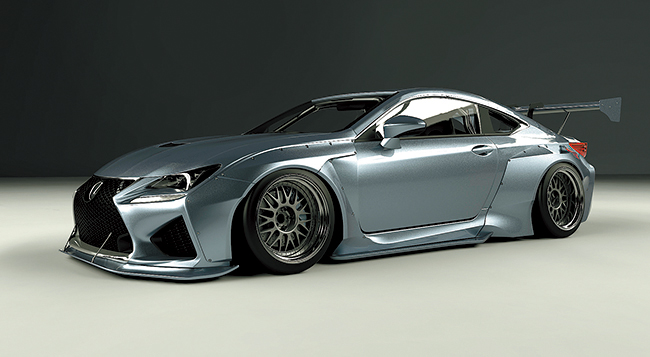 LEXUS RC-F Wide body kit