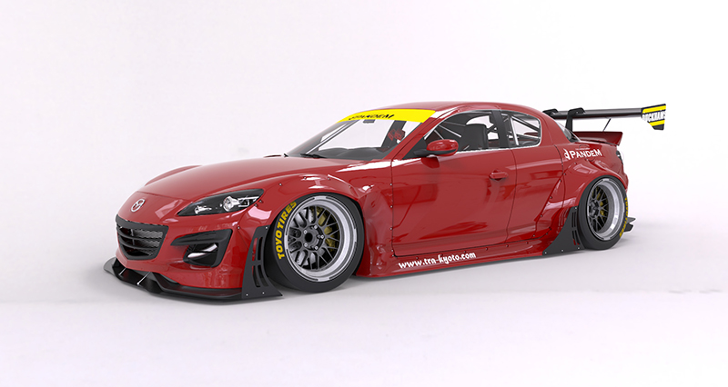 MAZDA RX-8 Wide body kit